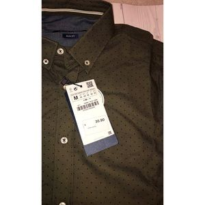 MENS: ZARA (slim fit) button up dress shirt
